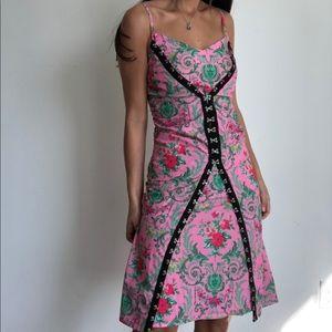 ASOS pink floral print camisole dress sz 2